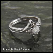 interlocking engagement ring wedding band diamond celtic interlocking wedding ring set walker metalsmiths