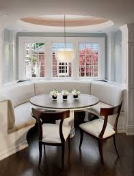 kitchen banquette ideas curved banquette seat in kitchen traditional kitchen milwaukee