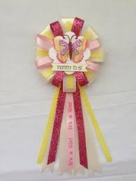 it s a girl ribbon to be ribbon corsage for baby shower it s a girl flower