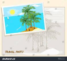 island sea white sail boat template stock illustration 360777767