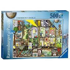ravensburger colin thompson tomorrow s world 500pc jigsaw puzzle