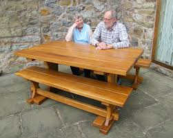 Outdoor Tables And Benches Bespoke Outdoor Furniture In Chester Wrexham Cheshire And North