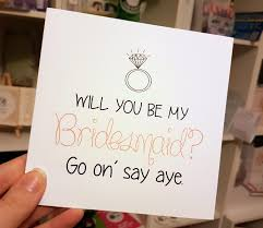 Ask Bridesmaids Cards Bridesmaids Cards The Perfect Way To Ask Www Amore Ie
