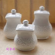 white kitchen canister sets ceramic 3pcs porcelain enamel kitchen canister set coffee sugar tea white