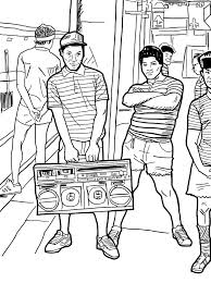 chuck gonzales illustration back in the days coloring book