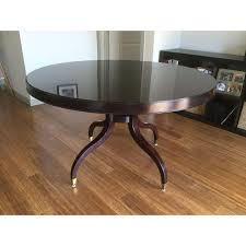 thomasville round coffee table thomasville nocturne round dining table leaf chairish