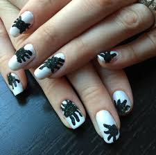 halloween month 2014 tutorial fuzzy spiders nails for nickels