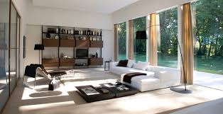 low profile sofa living room transitional with open concept wood