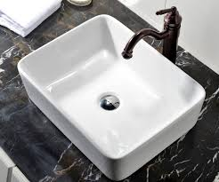 Bathroom Sinks by Vccucine Rectangle Above Counter Porcelain Ceramic Bathroom Vessel