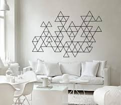 geometric home decor interior decoration amusing geometric triangles wall art decals