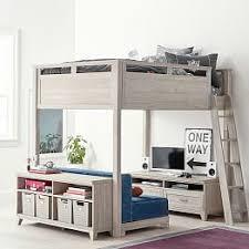 loft bed with desk teen loft beds bunk beds pbteen