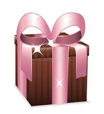 wrapped gift box beautiful brown and pink wrapped gift box stock illustration