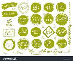 food vector os rótulos dos alimentos ecológicos logos vector free download
