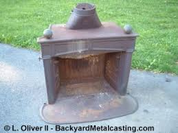 Cast Iron Fireplace Insert by Melting Iron With Waste Oil