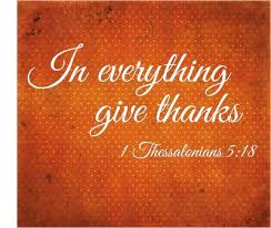 in everything give thanks focus on the positive and become more
