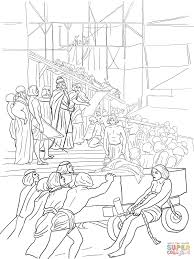 king solomon builds the temple coloring page free printable