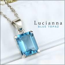 silver necklace woman images Shinjuku gin no kura square type london blue topaz silver jpg