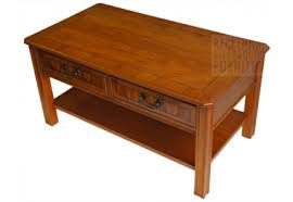 Yew Side Table Coffee Table Yew Veneer 2 Drawer Beckenham Reproduction