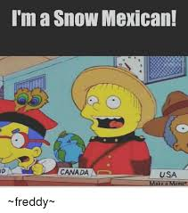 Canada Snow Meme - i m a snow mexican canada a usa make a meme freddy meme on me me