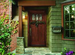 beauteous front door design with wooden materials and rectangular