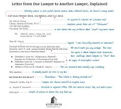 one lawyer u0027s letter to another explained