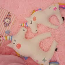 coussin chambre fille licorne oreiller coussin poupées dormante décoration cadeau fille