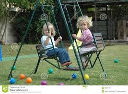 Double Swing Double Swing For Children Stock Photo Image 50702931