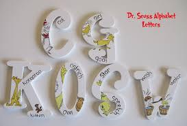 dr seuss abc alphabet wall art set a z
