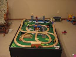 thomas the train wooden track table train table layouts