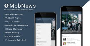 newspaper theme html5 mobnews amp news template by mobiusstudio themeforest