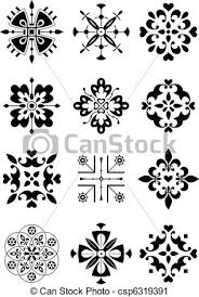 vector clip of ornament decor pattern traditional ethnic