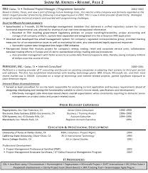 sample project management resume lukex co
