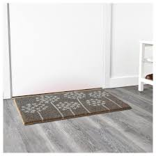 Grey Laminate Flooring Ikea Ikea Gimming Coir Grey White Door Mat With Motif 40x70cm