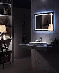 bathroom mirror defogger amazon com diyhd w36 x h36 wall mount led lighted bathroom mirror