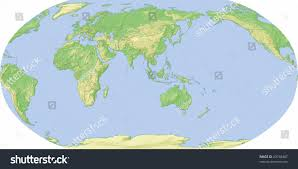 Asia Map Outline by World Map Centered On Asia Shaded Stock Illustration 23748487