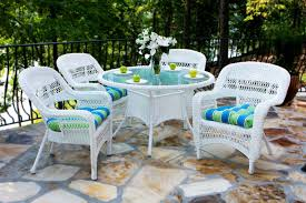 White Wicker Outdoor Patio Furniture - portside 5pc dining set tortuga outdoor of georgia