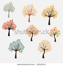 tree four seasons stock photo 117896533