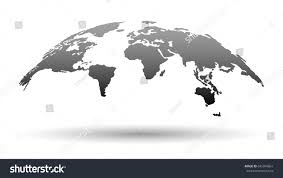 3d map world grey color shadow stock vector 645904861 shutterstock
