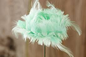 feather flower mint green feather flower tulips