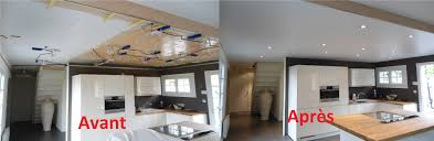 plafond cuisine ordinary luminaire ilot de cuisine 11 eclairage plafond cuisine