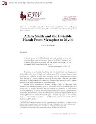 quotation marks before or after period uk adam smith and the invisible hand from metaphor to myth pdf