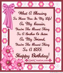 Happy Birthday Wishes For A Cousin Birthday Wishes For Cousin Pictures And Graphics Smitcreation