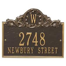 monogram plaques arch address plaque with monogram wall mount