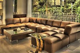 Brown Leather Sectional Sofa With Chaise Large Sectional Sofas For Any Living Rooms Jenisemay House