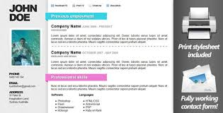 Creative Online Resumes by 50 Html5 Resume And Cv Templayes Sixthlifesixthlife