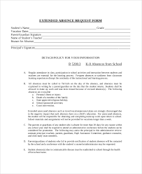 sample absence request form 11 examples in word pdf
