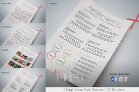 Best Resume Templates Etsy by Hired Microsoft Word Resume Template Swiss Style 5 Page Resume