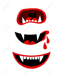 vector halloween vampire mouth with fangs vector halloween horror teeth isolated