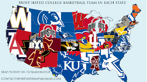 Map Of Mlb Teams What Team Does Your State The Most Map Ncaa Basketball