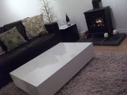 High Gloss Side Table White Gloss Coffee Table Foter